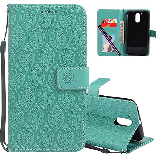 Amazon.com: Moto G4 Play Funda de piel cotdinforca Premium ...