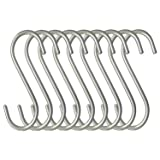 Hulless S Shaped Hanging Hooks 3.5 Inch Solid