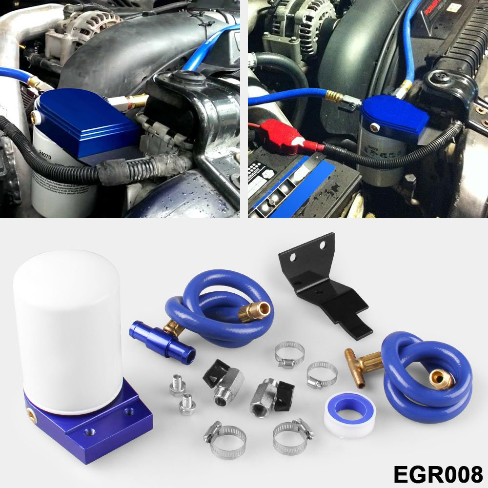 Ruien Coolant Filtration System Filter Kit for 2003-07 Ford 6.0L Powerstroke Diesel Turbo Blue