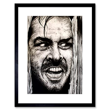 fc06654e0ce3 Wee Blue Coo Jack Nicholson The Shining Maguire Picture Framed Wall Art  Print  Amazon.co.uk  Kitchen   Home