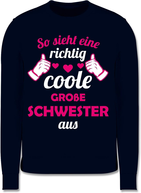 Fuchsia Shirtracer Geschwister Schwester Kinder Pullover So Sieht eine richtig Coole gro/ße Schwester aus