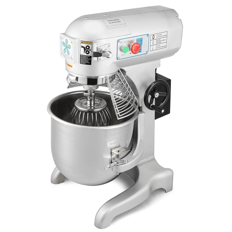 PVRO Batidora Amasadora 20 Litros Multifunción 3 Velocidades 3 Accesorios de Mezcla Acero Inoxidable Profesional Comercial Food Mixer (20 Litros): ...
