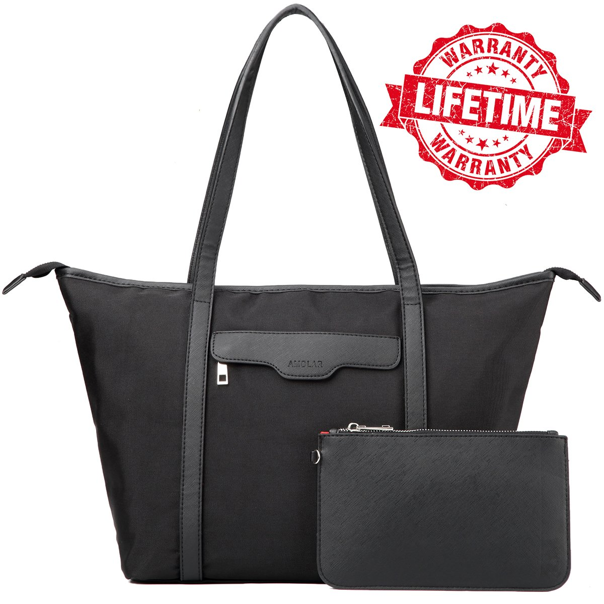 Laptop bags for women, Computer messenger Shoulder Bag for 13.5 Inch MacBook Air, MacBook Pro, Protective Laptop Briefcase Carrying tote Case with Bonus Purse, Black