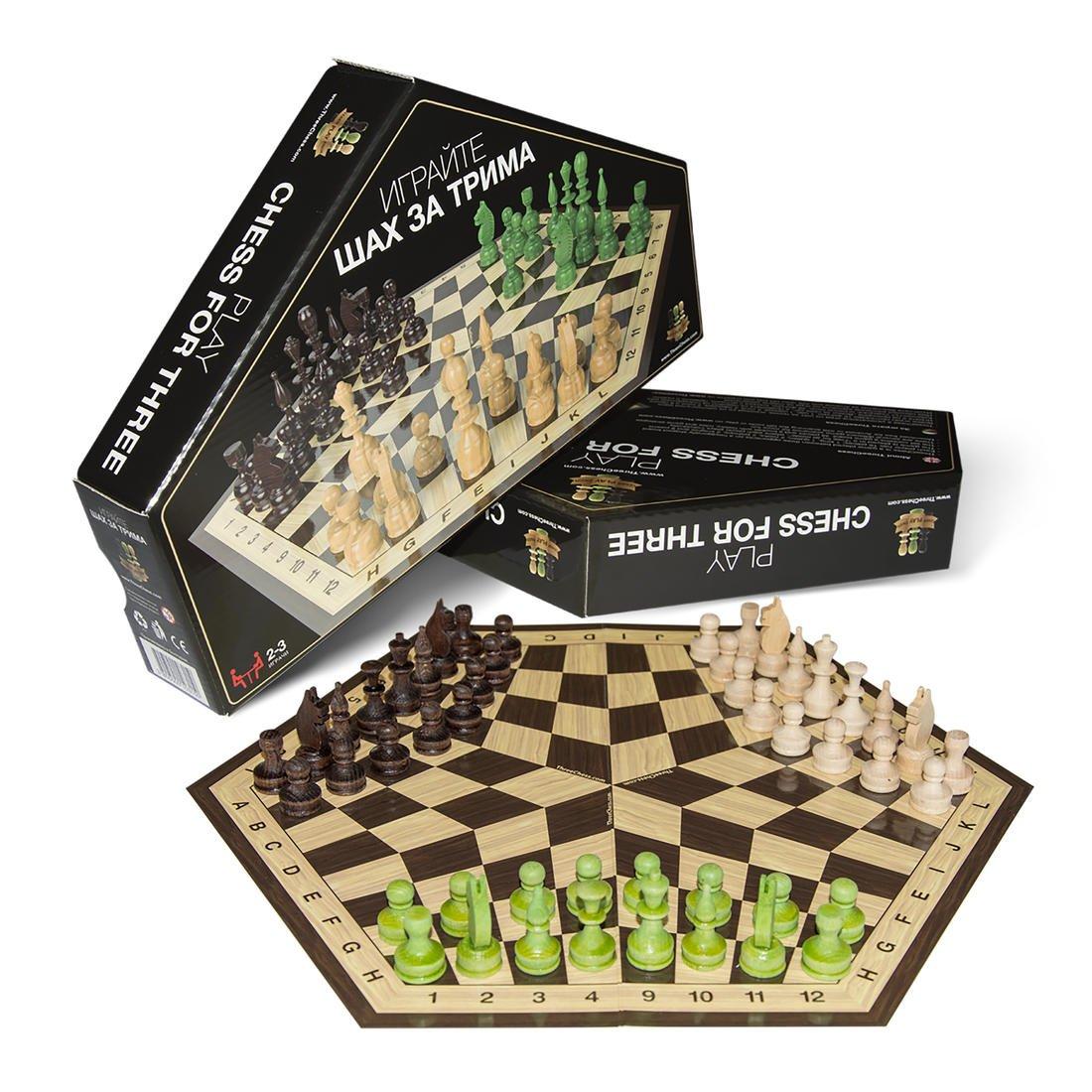 ThreeChess Schachspiel für 3 Spieler : Reise-Schachbrett