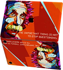 Mertak Vinyl Skin for Apple MacBook Air 13 inch Mac Pro 16 15 Retina 12 11 2020 2019 2018 2017 Physics Science Pop Art Albert Einstein Sticker Touch Bar Wrap Quote Decal Trackpad Keyboard Design