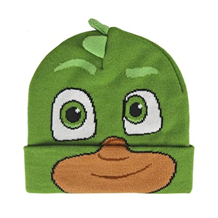 PJ Masks 2200002529 - Gorro para niños Greg Gekko efecto 3d, talla única