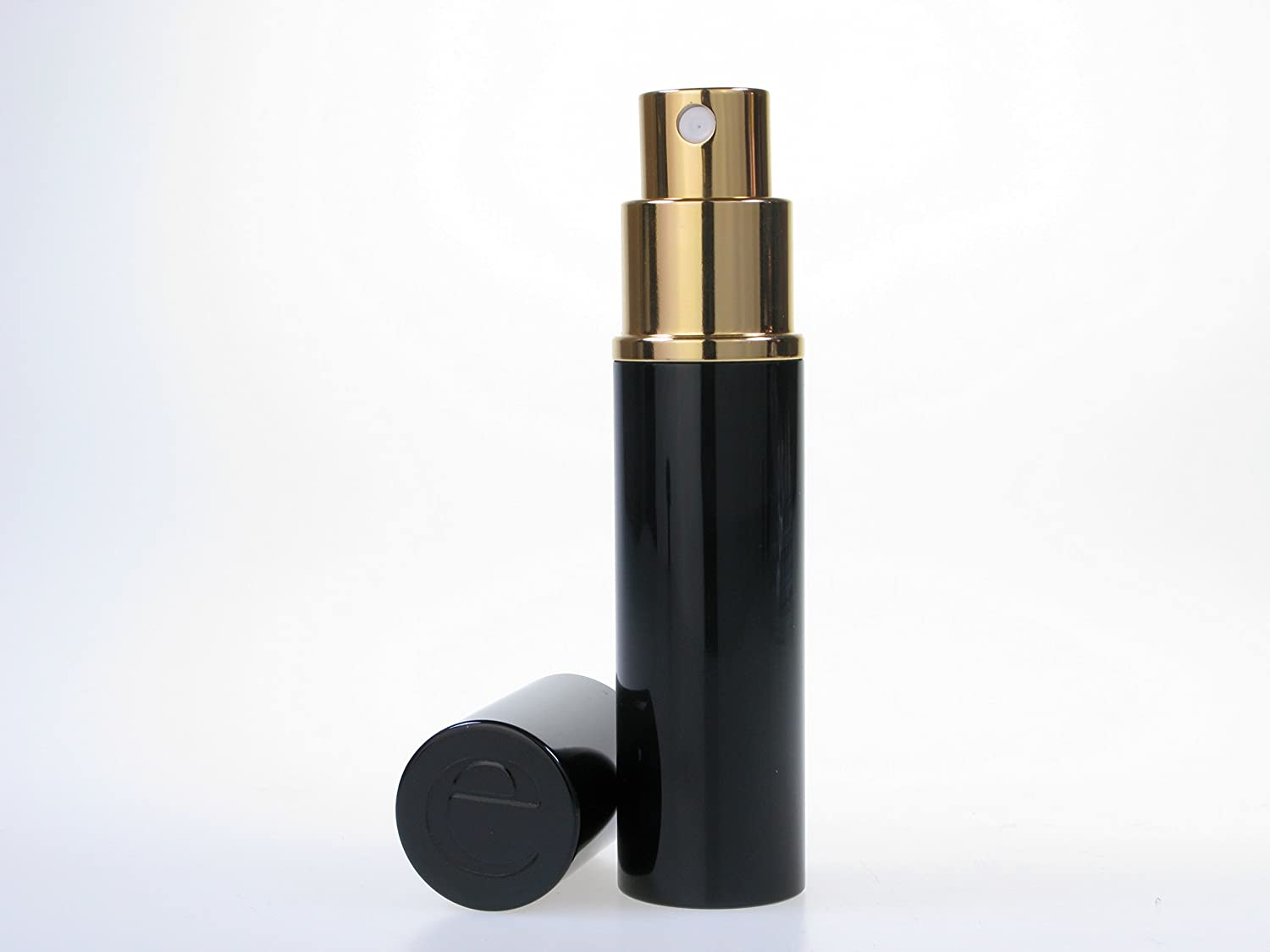 The Essential Atomizer Co. Quality Black Perfume Atomizer for Handbag, Pocket & Travel, 10ml. Refillable, includes funnel the essential atomizer company