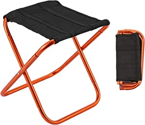 Gonex Folding Camping Stool, Lightweight & Portable Sturdy Chair for Picnic Camping Hiking Backpacking, Compact Traveling Foot Stool