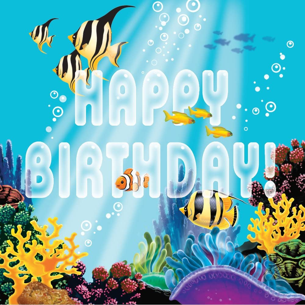Creative Converting Ocean Party Happy Birthday 16 Count 3-Ply Paper Lunch Napkins