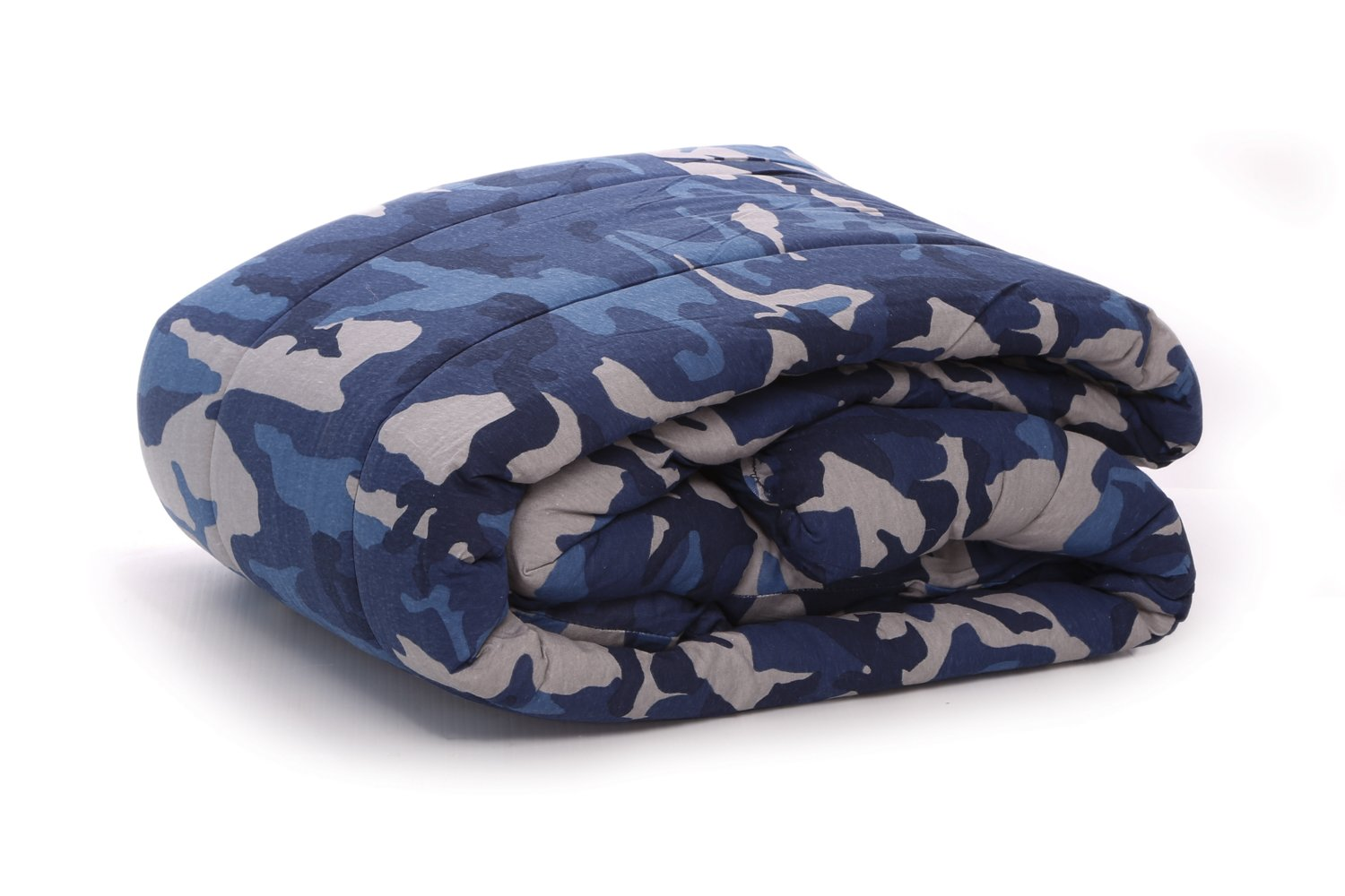 100% Cotton Jersey Knit Comforter - Twin Size - CAMOUFLAGE
