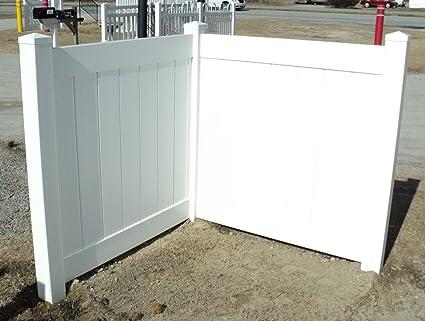 Amazon com : White PVC Fence Corner - Privacy - Driveway