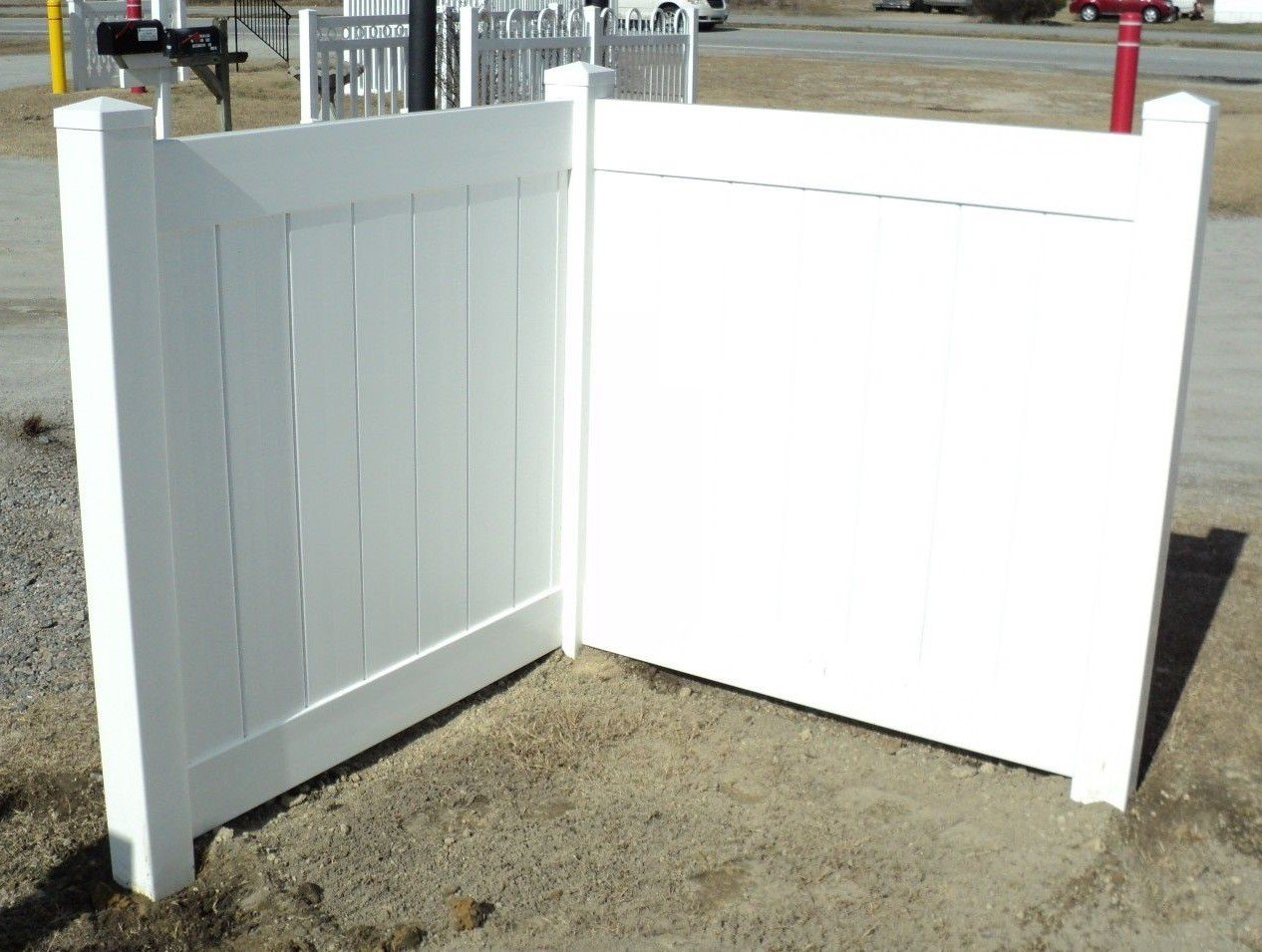 White PVC Fence Corner - Privacy - Driveway/Garden Accent - Garbage Can/AC Unit Enclosure by The Fence Department
