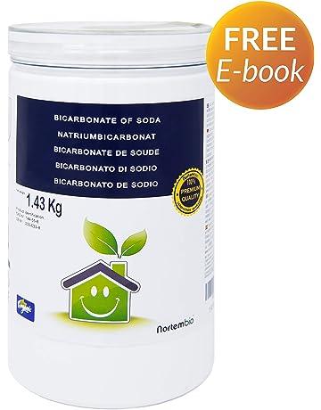 NortemBio Bicarbonato de Sodio 1.43 Kg, Insumo Ecológico de Origen Natural, Libre de Aluminio