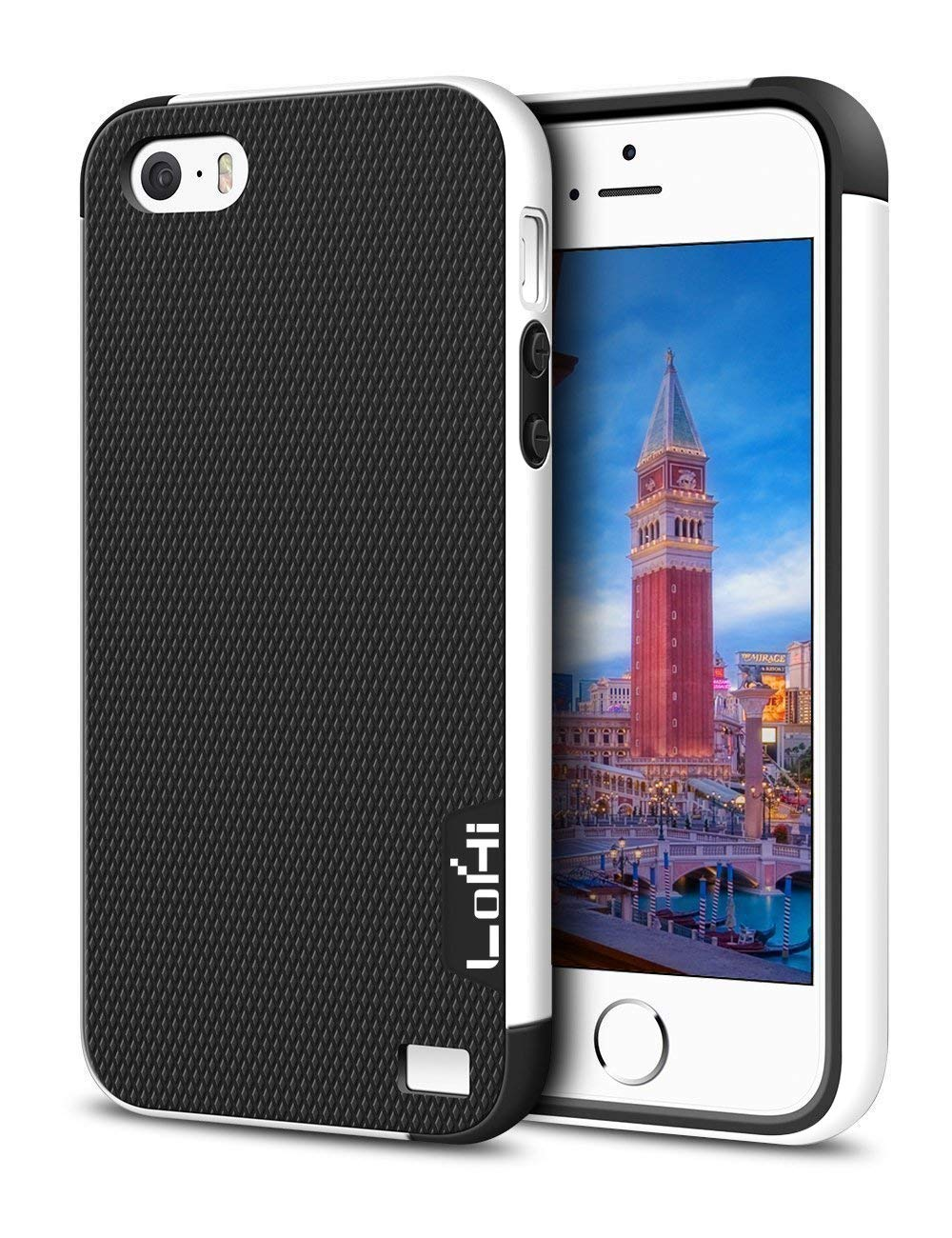 iPhone 5S Case, LoHi Apple iPhone SE Case [Dual Protection] Anti-Scratch Shockproof Bumper Case for iPhone SE 5S 5 - Black