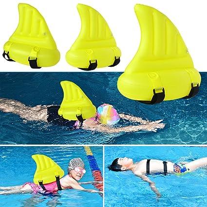 Artistic9 Flotador hinchable para nadar con ayuda de tiburón para niños, natación para niños
