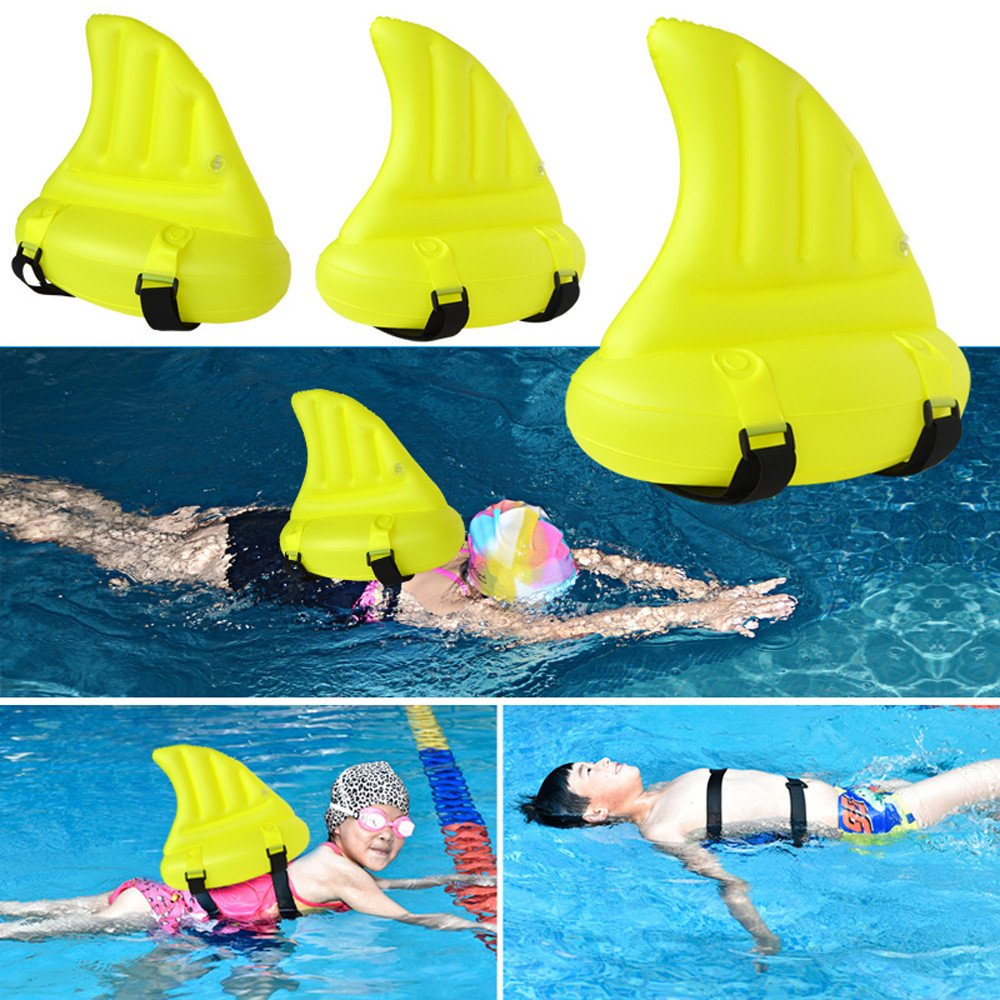 Botrong Children Swimming Thickening Inflatable Auxiliary Shark Fin Funny Toy
