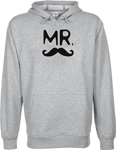 Par camiseta Mr and Mrs con capucha sudadera Unisex Gris gris medium: Amazon.es: Ropa y accesorios