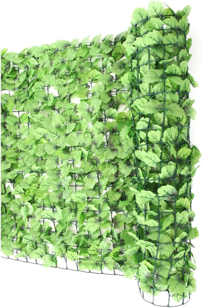 feuilles mixtes P-867 PrimoLiving Haie brise-vue 300 x 100 cm cl/ôture de balcon haie artificielle brise-vue