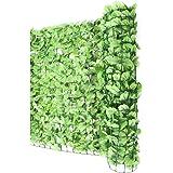 Mendler Sichtschutz Windschutz Verkleidung für Balkon Terrasse Zaun ~ Blatt hell 300 x 150 cm