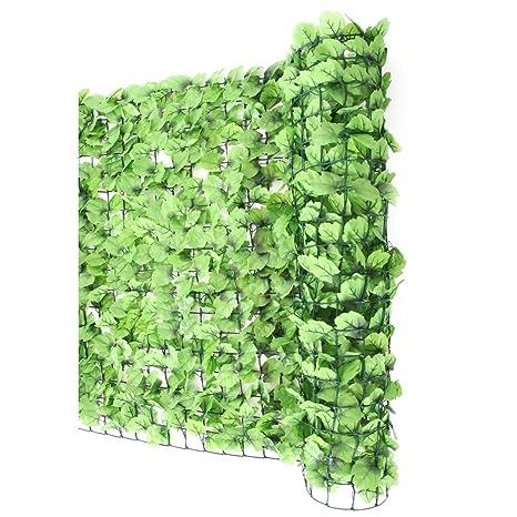 Amazon.de: Mendler Sichtschutz Windschutz Verkleidung Für Balkon Terrasse  Zaun ~ Blatt Hell 300 X 100 Cm