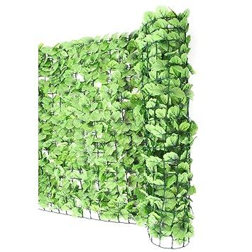 Mendler Sichtschutz Windschutz Verkleidung Für Balkon Terrasse Zaun ~ Blatt  Hell 300 X 100 Cm