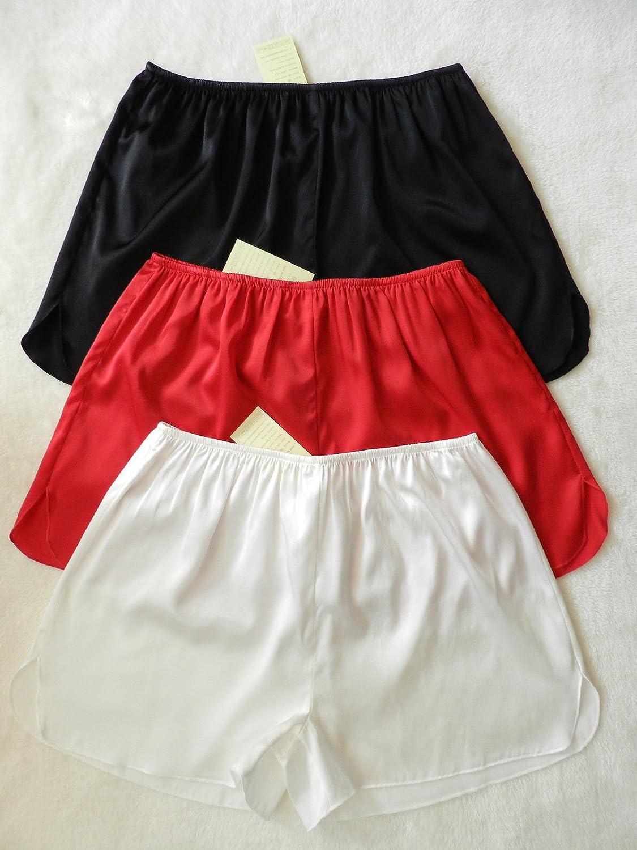 SEVE Frauen Unterwäsche aus 100 % Seide Shorts Hosen Leggings Shorts Größe: S M L XL 2XL