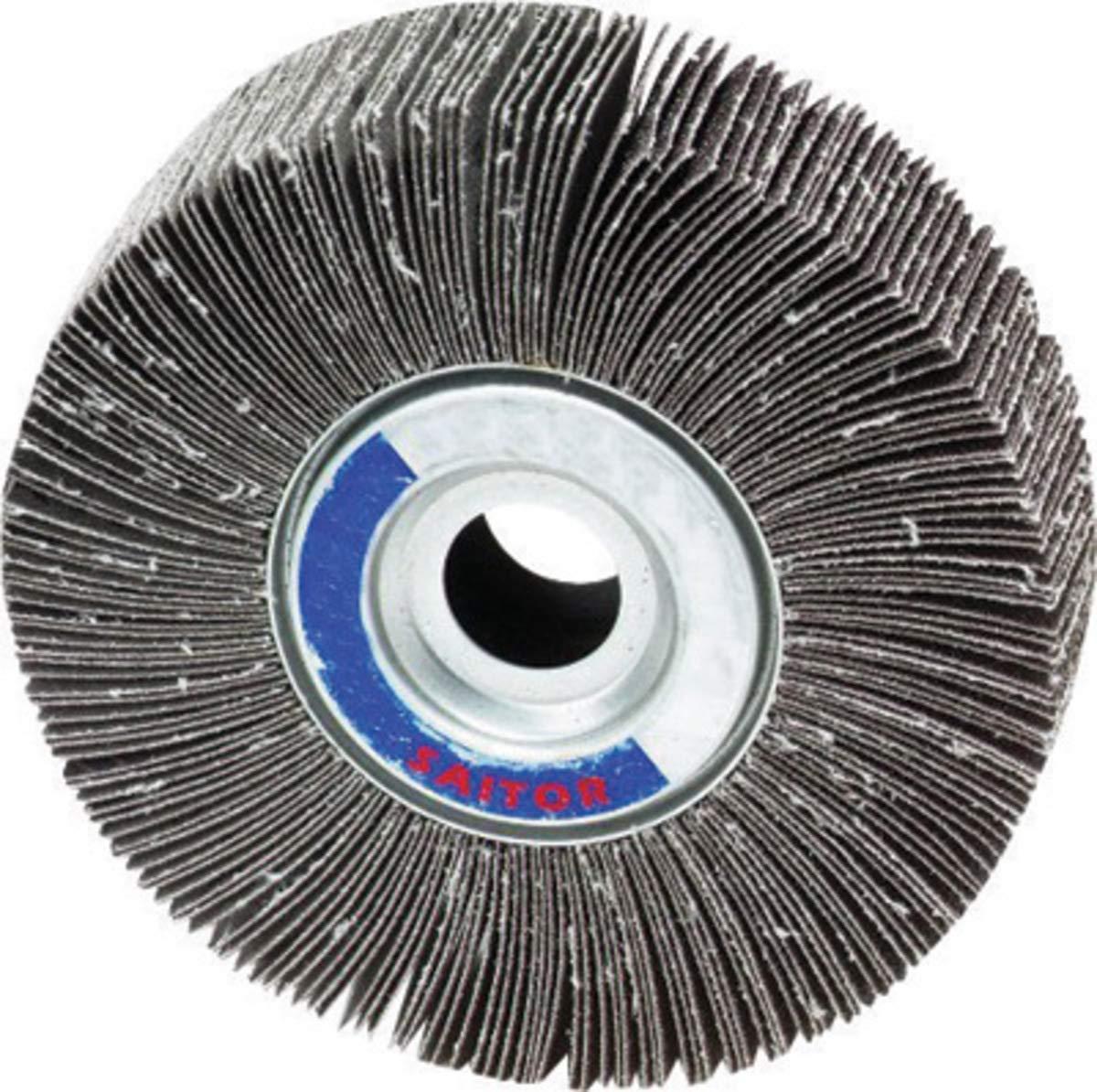 United Abrasives 6'' X 1'' X 1'' 80 Grit 2A Aluminum Oxide Large Coated Flap Wheel - 10 Each/Case