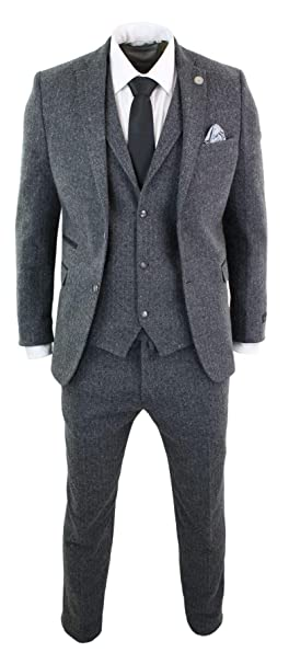 Amazon.com: TruClothing - Traje de tweed para hombre (3 ...