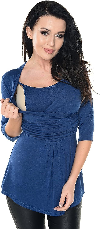 Purpless Maternity Pregnancy Nursing Top Wrap Style Blouse Tunic Shirt Breastfeeding Pregnant Women 7049