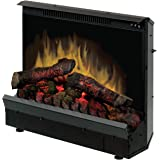 """Dimplex Deluxe 23"""" Electric Fireplace Insert, Model: DFI2310, 120V, 1375W, 12.5 Amps, Black"""