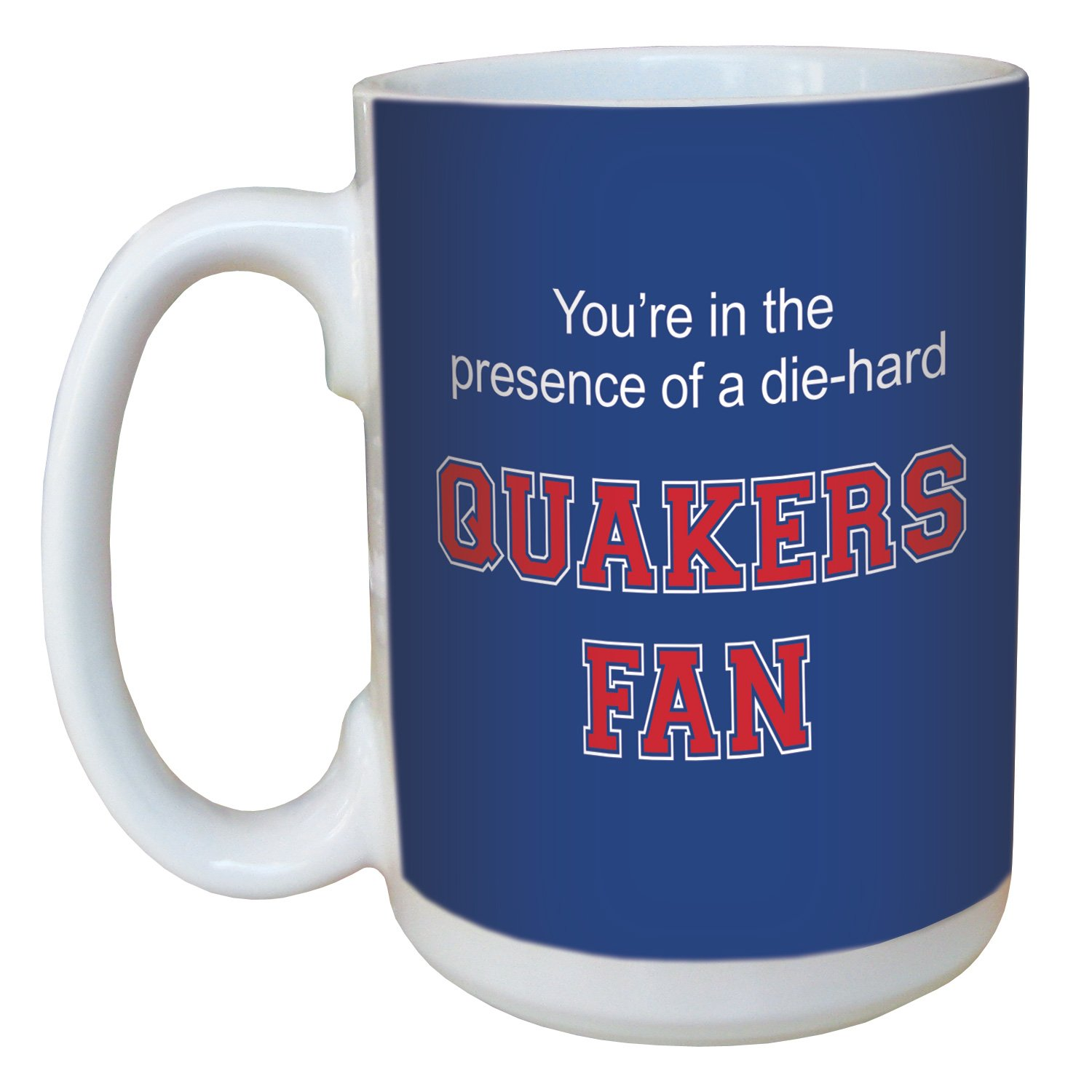 Tree-Free Greetings lm44532 Quakers College Football Fan Ceramic Mug with Full-Sized Handle 15-Ounce