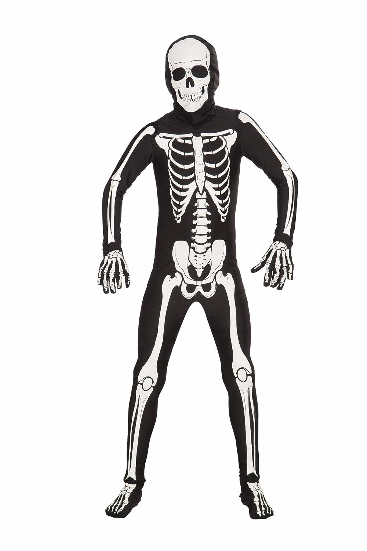 Amazon.com: Forum Novelties Women's Teen Disappearing Man Patterned Stretch  Body Suit Costume Skeleton, Black/White, Small/Medium: Clothing