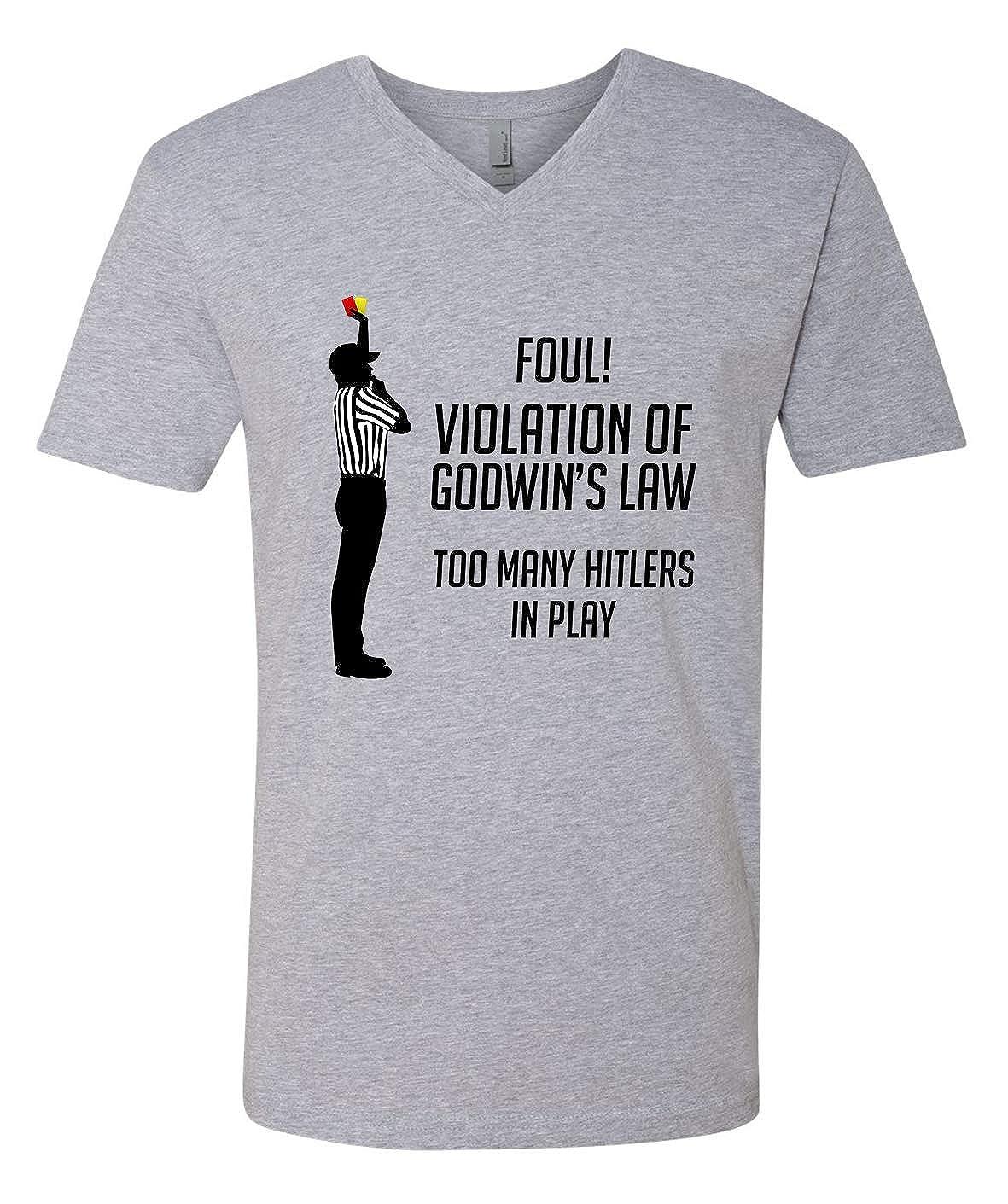 Tenacitee Mens Godwins Law Logical Fallacy T-Shirt