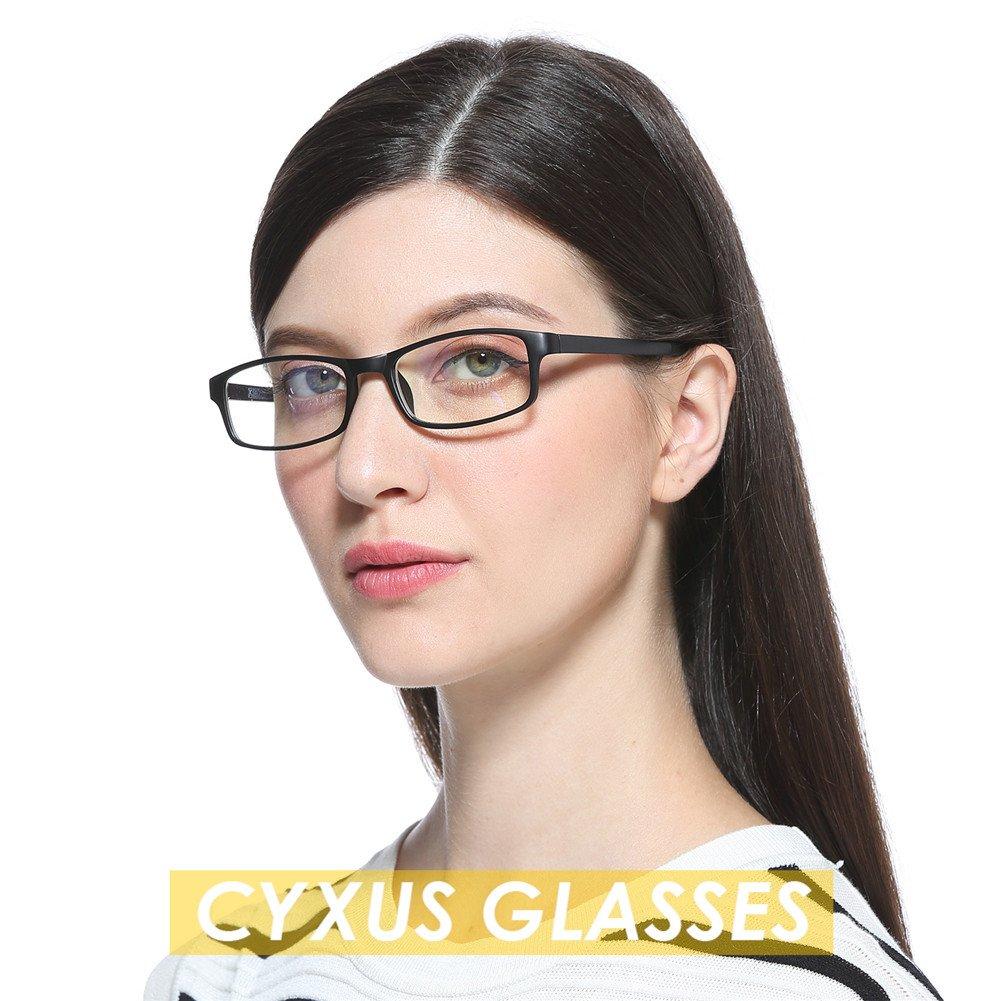 Cyxus Blue Light Blocking [Lightweight TR90] Glasses for Anti Eye Strain Headache Computer Use Eyewear, Men/Women (TR90 black) by Cyxus (Image #9)