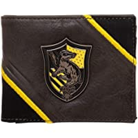 Harry Potter Hufflepuff Metal Badge Crest Bifold Wallet