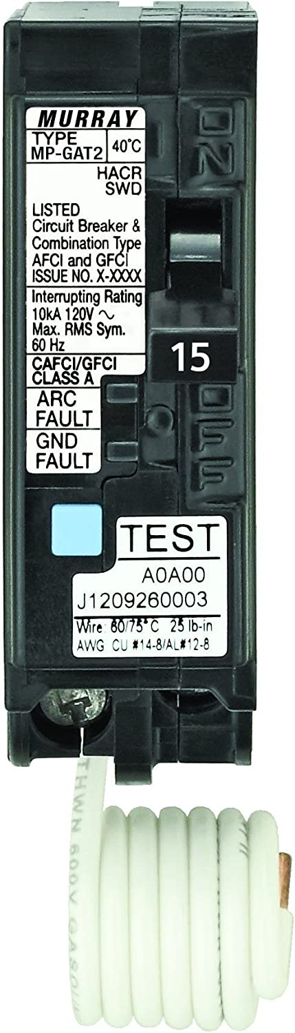 Siemens MP115DF15-Amp Afci/Gfci Dual Function Circuit Breaker, Plug on Load Center Style