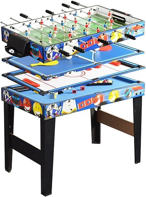 WIN.MAX Deluxe - Juego de mesa de juego 4 en 1 multifunción de 122 cm / 122