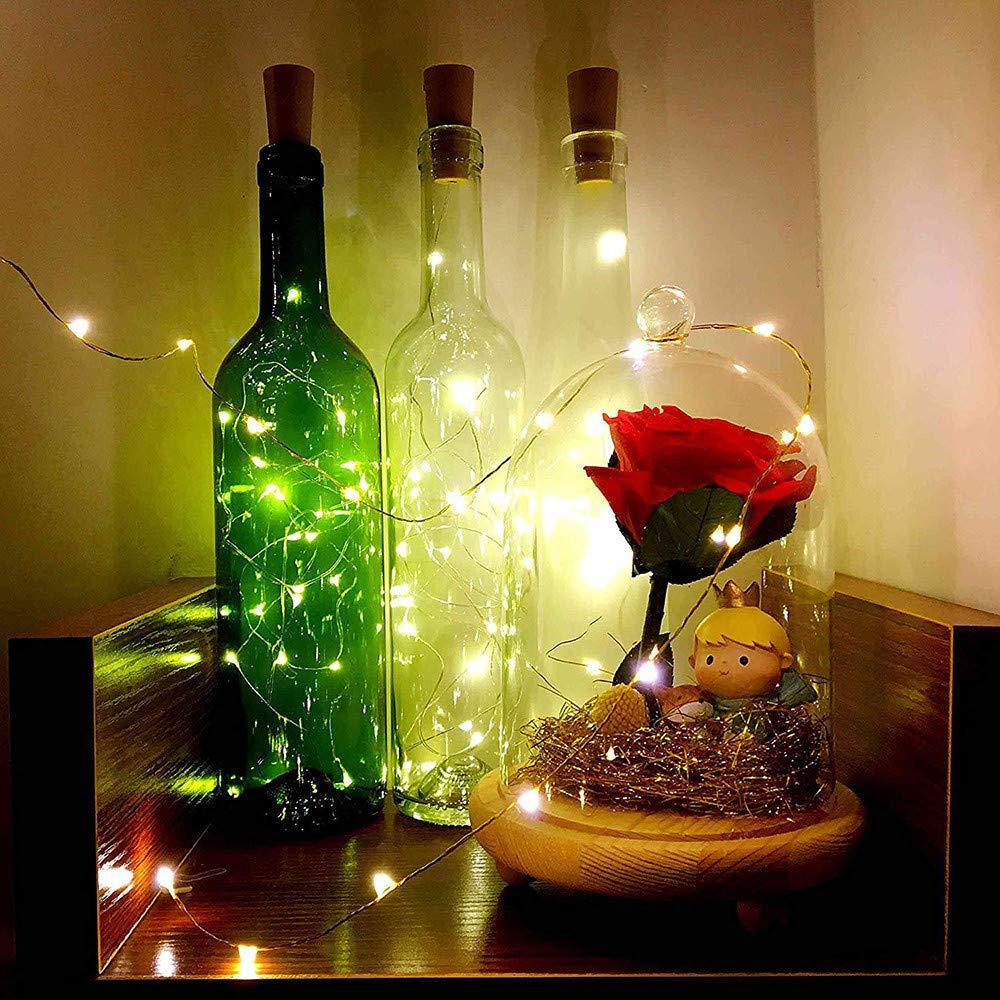 mmlc LED botellas de luz alambre de cobre Cork forma la luz nocturna LED Vino Botella boda fiesta decoración romántica: Amazon.es: Iluminación