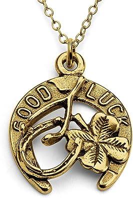 lucky horseshoe earrings Silver shamrock necklace Lucky horseshoe necklace bronze shamrock necklace /& earrings silver shamrock earrings
