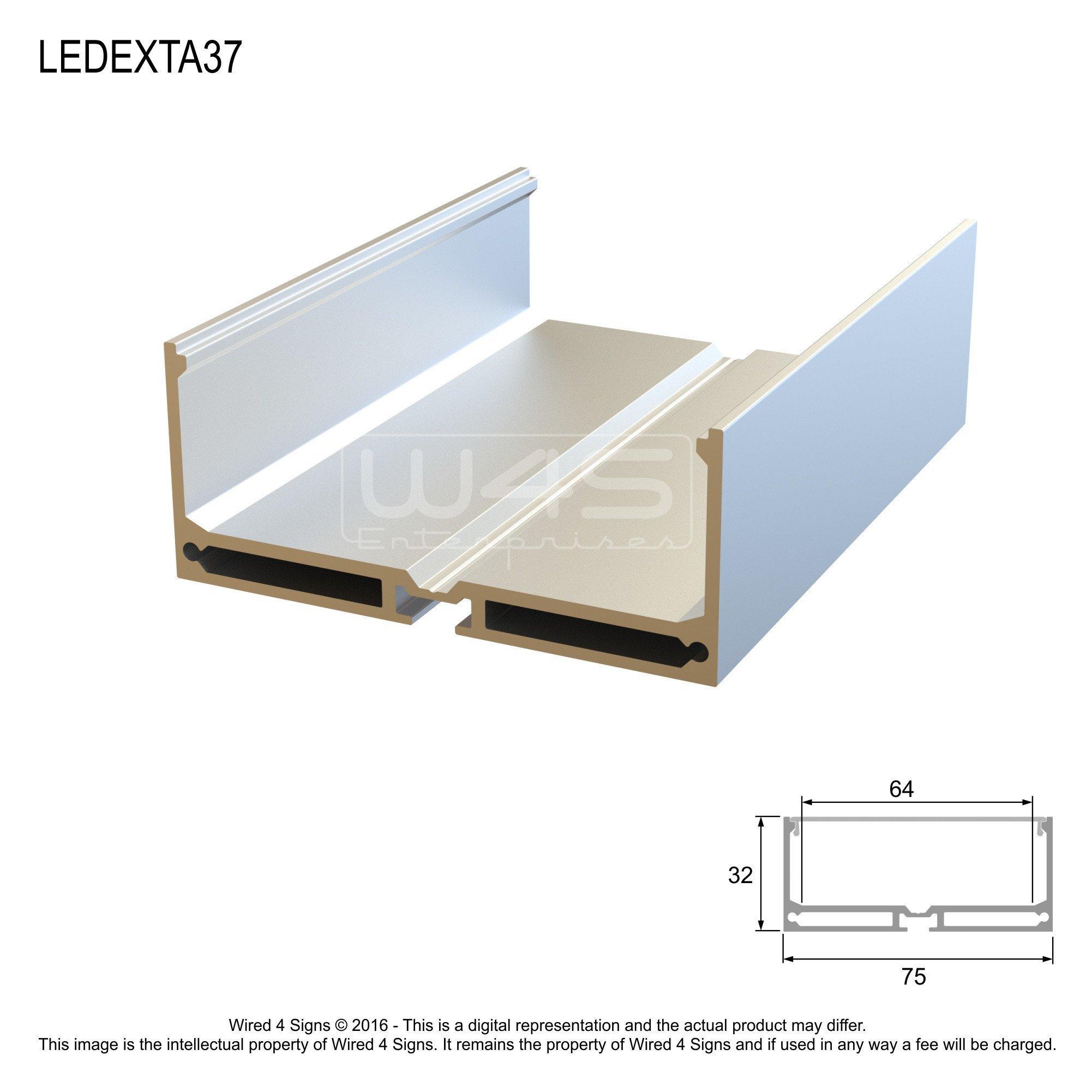Rectangular LED Linear Pendant- Model A37 [Profile Only]