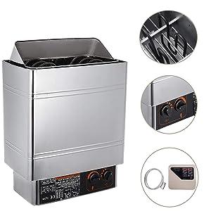 VEVOR Sauna Heater 9KW Dry Steam Bath Sauna Heater Stove 220V-240V with External Controller Electric Sauna Stove for Max.459 Cubic Feet Home Hotel Sauna Room Spa Shower Bath Sauna