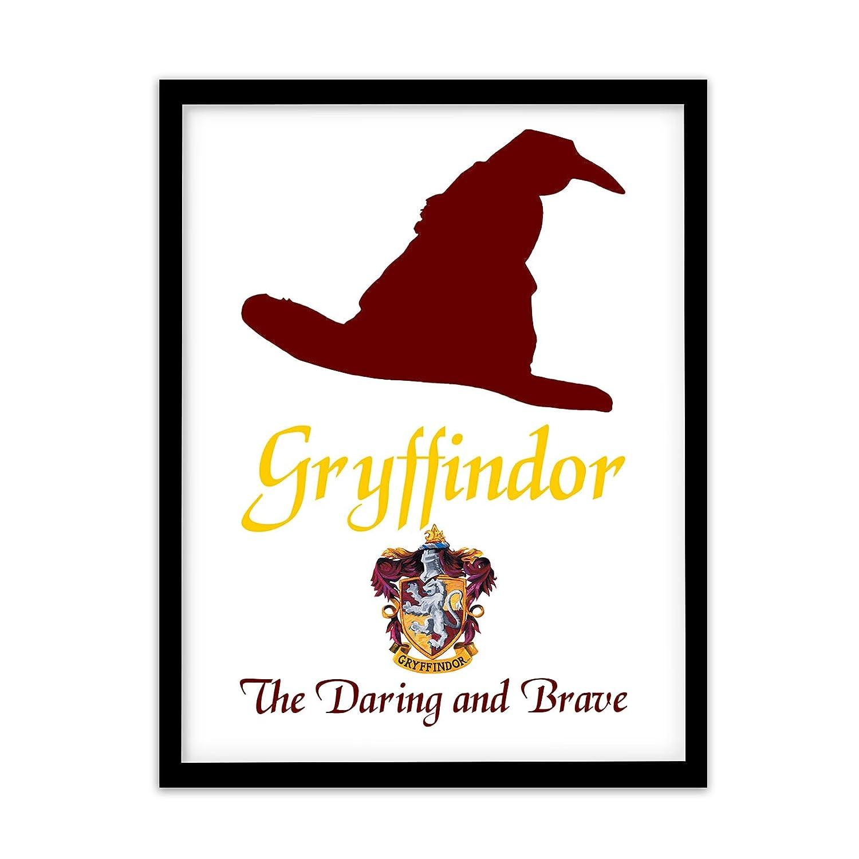 Fp1505 Harry Potter Gryffindor Quote Merchandise Wizard Print Gift