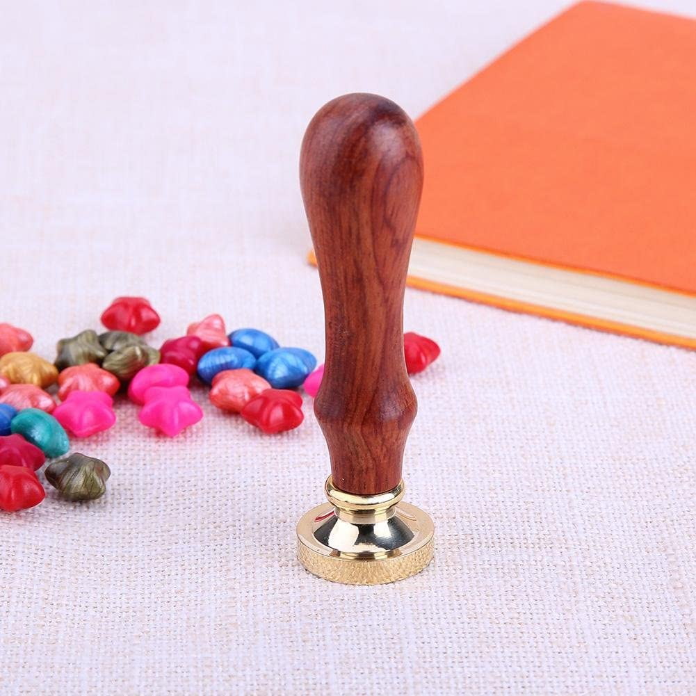 Heummyo Wax Seal Stamp,Retro Rose Pattern 26 Letter A-Z Alphabet DIY Wax Seal Stamp with Handle S