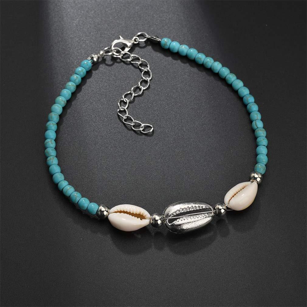 YAZILIND Summer Beach Foot Bracelet Anklet Hemp Rope Woven Wooden Beads Shell anklets Women feet Jewelry