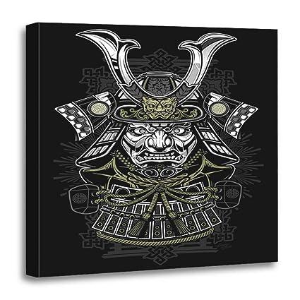 Amazon.com: Semtomn Canvas Wall Art Print Tattoo Samurai ...