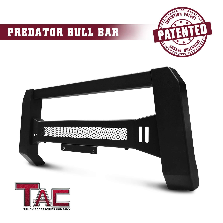 TAC Predator Mesh Version Modular Bull Bar Fit 2010-2018 Jeep Wrangler (Exclude 2018 Wrangler JL Models) SUV Front Brush Bumper Grille Guard Fine Textured Black Suitable for LED Off-Road Lights