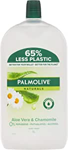 Palmolive Naturals Liquid Hand Wash Soap Aloe Vera and Chamomile with Moisturising Milk Refill and Save Recyclable, 1L