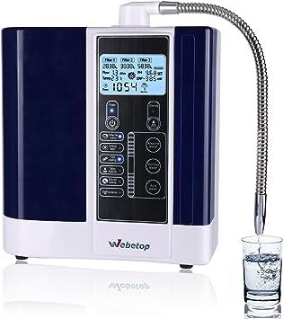 Webetop agua ionizador máquina con filtro purificador de agua PH 3 ...