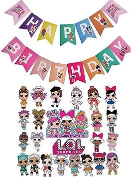Amazon.com: LOL - Decoración para tarta de cumpleaños (2 ...