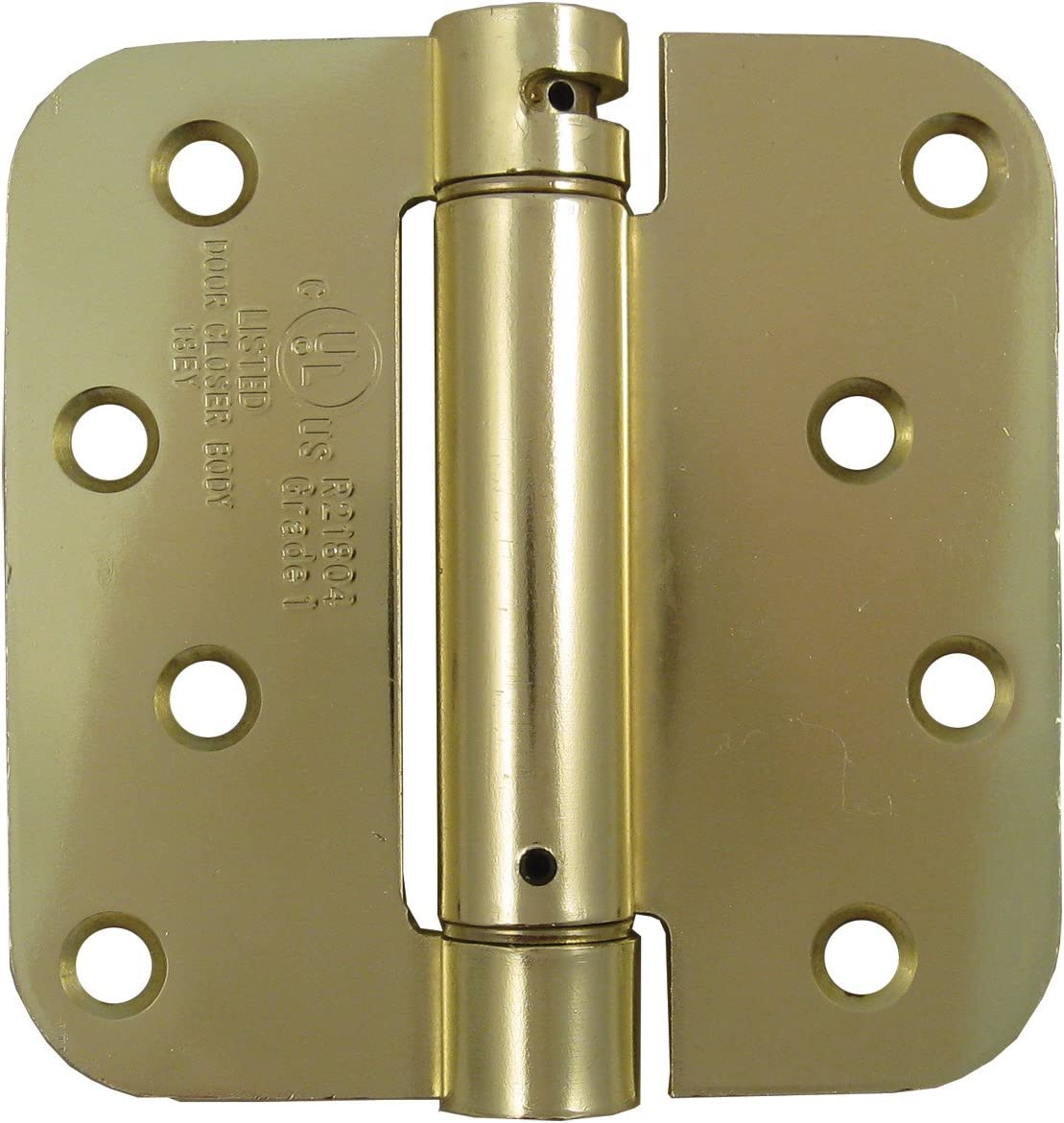 Hinge Outlet Adjustable Spring Hinges 2 Pack Self Closing Hinges 3.5 Inch with 5//8 Inch Radius in Satin Brass Door Closing Hinges